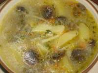 рецепт суп Лесной с грибами и овощами