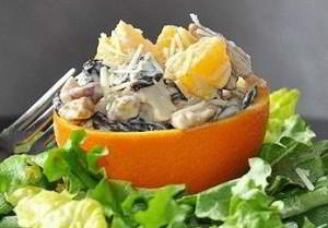 Куриный салатик с апельсинчиком