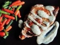 Курица под горчично-сливочным соусом