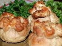 Мешочки с сыром и грибами