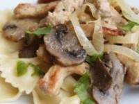 Мясо с грибами тушеное
