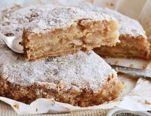 Насыпной яблочный пирог 2