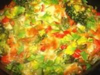 Овощи, запеченные с ароматным творогом