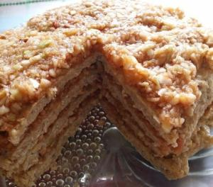 Овсяный торт без муки