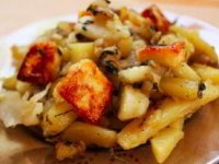 Сабджи с картофелем капустой и паниро