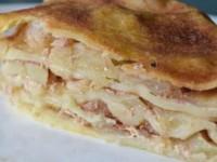 Слоеный яблочный пирог