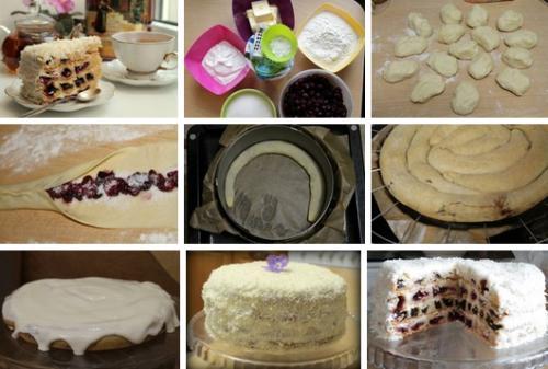 Торт «Вишня в снегу»