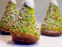 """Бисквитное пирожное """"Новогодняя елочка"""""""