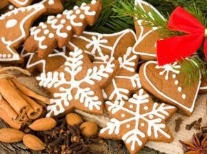 Имбирное новогоднее печенье с корицей