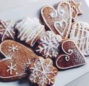 Имбирное новогоднее печенье с фото