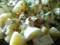 Картошка с лисичками в сметане