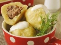 Клецки с мясом, очень просто и вкусно