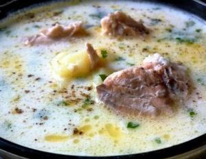 Лёгкий, тёплый, нежный рыбный суп