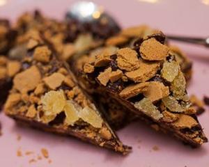 Новогоднее имбирно-шоколадное печенье