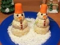 Новогодняя закуска «Снеговики» - новогодние рецепты