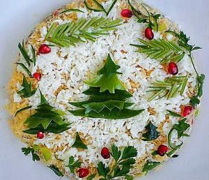 Салат «Новогодний» с креветками