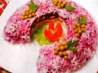 Салат «Подкова» (новогодний рецепт)