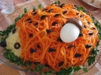 Салат Ежик с корейской морковью