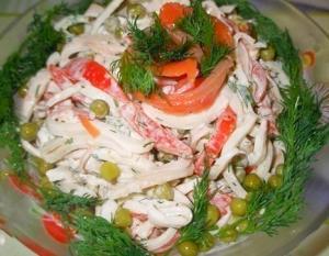 """Салат с кальмарами """"Просто и вкусно"""""""