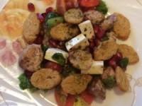 Салат с куриной грудкой и гранатом