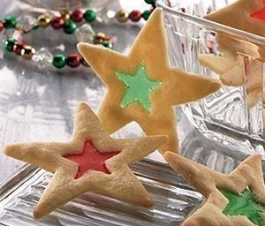 Сладкая новогодняя сказка печенье с леденцовым окошком