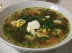 Украинский суп из щавеля (Зелёный борщ)