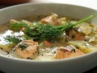 Финский суп с лососем и картофелем