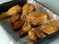 Хрустящая жареная курица