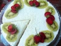 Английский чизкейк с ягодами и кокосовой стружкой