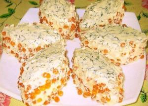 """Бутербродное пирожное """"Икорная сказка"""" - новогодние рецепты"""