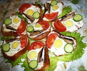 Бутерброды Светофор