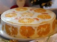 Желейный торт Фруктовый новый год - новогодние рецепты