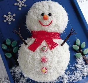 """Новогодний торт """"Снеговик"""" - новогодние рецепты"""
