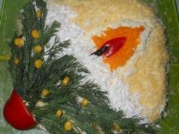 Салат Свеча - новогодние рецепты