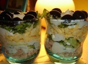Салат - коктейль на двоих