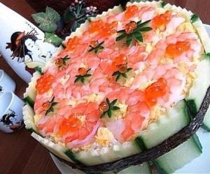 Салат суши - торт