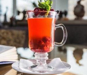 Вишнёвый чай по-домашнему