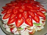 Вкусный фруктовый торт на скорую руку