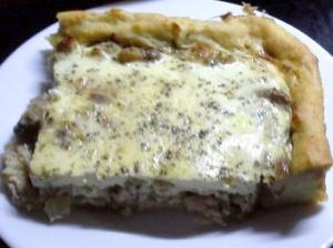 Картофельный пирог с курицей и шампиньонами