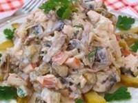 Мясной салат Спутник
