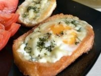 Необычный вкусный бутерброд