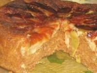 Пирог с яблоками и сгущёнкой в мультиварке