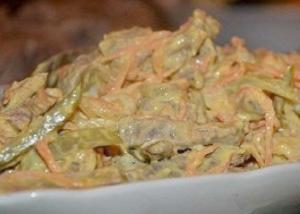 Салат из языка и моркови