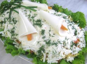 """Салат на любой вкус """"Каллы"""""""