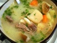 Суп с грибами и шпинатом