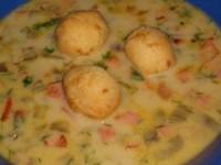 Сырно-баклажановый супчик за полчаса