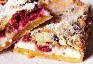 вишневый творожный пирог рецепт