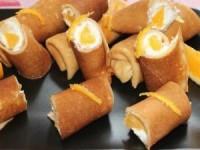 Апельсиновые блинчики с творогом вкусно