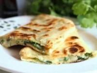 Горячая закуска из лаваша с зеленью и сыром