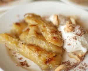 Десерт из запеченных бананов